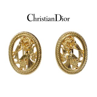 Dior ディオール ヴィンテージ<br>バードモチーフオバールイヤリング