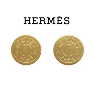 HERMES エルメス ヴィンテージ<br>セリエ ゴールドイヤリング