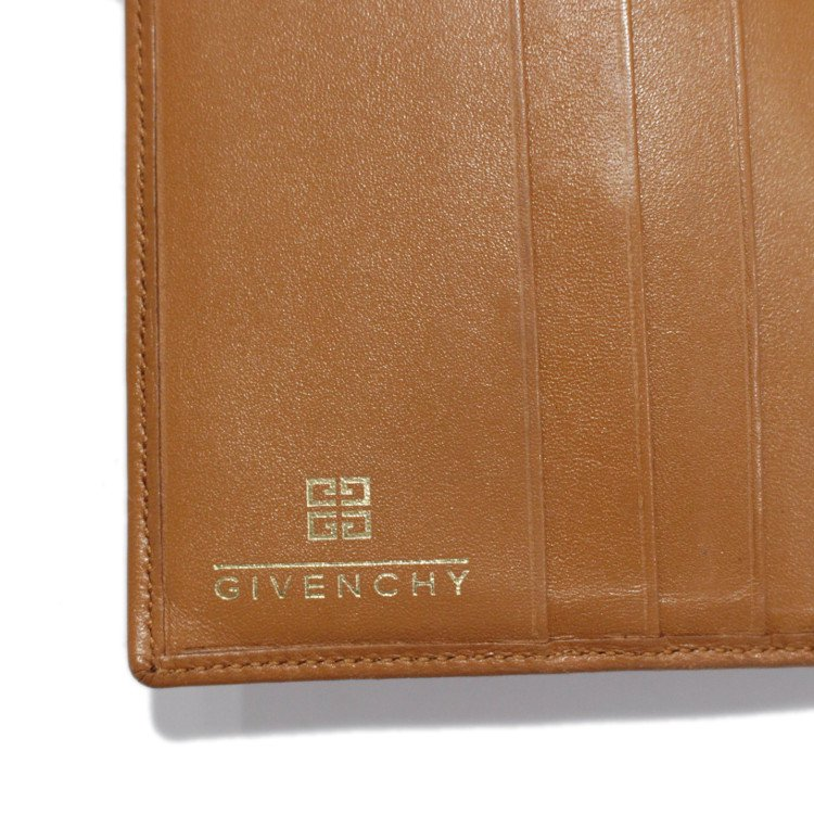 GIVENCHY ジバンシー ヴィンテージ<br>ホースシューロゴがま口二つ折り財布