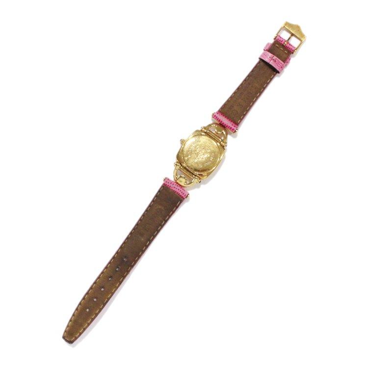 GUCCI グッチ ヴィンテージ<br>ホースビットQZ腕時計 6300L ピンク