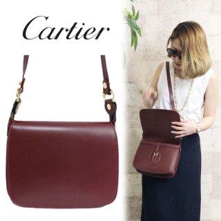 Cartier カルティエ ヴィンテージ<br>マストラインショルダーバッグ