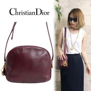 Dior ディオール ヴィンテージ<br>ロゴチャームレザーショルダーバッグ