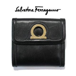 Ferragamo フェラガモ ヴィンテージ<br>ガンチーニレザー三つ折り財布