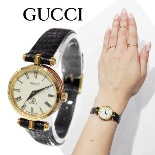 GUCCI グッチ ヴィンテージ<br>シェリーラインQZ腕時計 3400L