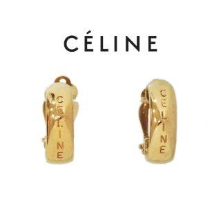 CELINE セリーヌ ヴィンテージ<br>ロゴイヤリング