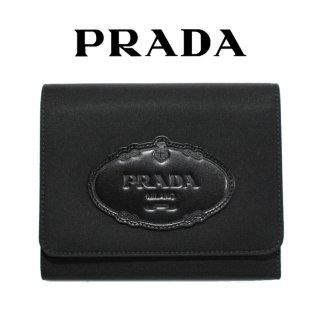 PRADA プラダ ヴィンテージ<br>ロゴ×ナイロン三つ折り財布