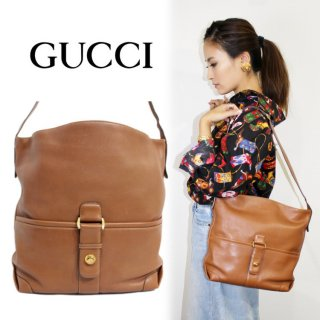 <img class='new_mark_img1' src='https://img.shop-pro.jp/img/new/icons14.gif' style='border:none;display:inline;margin:0px;padding:0px;width:auto;' />GUCCI グッチ ヴィンテージ<br>レザーショルダーバッグ キャメル