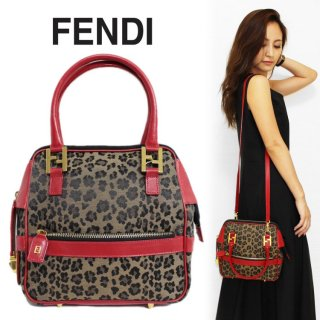 <img class='new_mark_img1' src='https://img.shop-pro.jp/img/new/icons14.gif' style='border:none;display:inline;margin:0px;padding:0px;width:auto;' />FENDI フェンディ ヴィンテージ<br>レオパード柄 2WAYショルダーバッグ