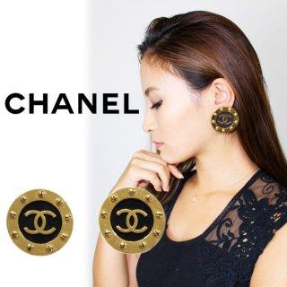 CHANEL シャネル ヴィンテージ<br>ココマークビッグイヤリング