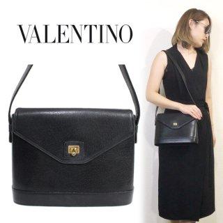 VALENTINO ヴァレンティノ ヴィンテージ<br>ガラヴァーニ レザーショルダーバッグ
