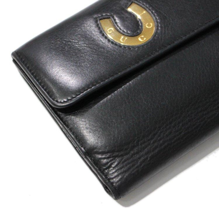 GUCCI グッチ ヴィンテージ<br>ホースシュー二つ折り財布