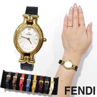 FENDI フェンディ ヴィンテージ<br>カメレオンチェンジベルトQZ腕時計 640L(ベルト9本)