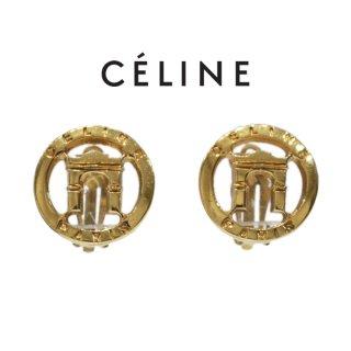 CELINE セリーヌ ヴィンテージ<br>PARIS凱旋門モチーフイヤリング