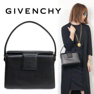 GIVENCHY ジバンシー ヴィンテージ<br>カーフレザーロゴハンドバッグ