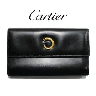 Cartier カルティエ ヴィンテージ<br>パンテールレザー長財布