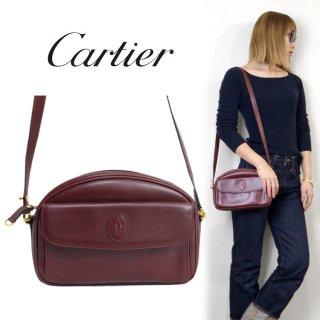 Cartier カルティエ ヴィンテージ<br>マストラインコンパクトショルダーバッグ