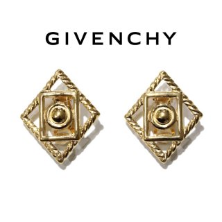 <img class='new_mark_img1' src='https://img.shop-pro.jp/img/new/icons14.gif' style='border:none;display:inline;margin:0px;padding:0px;width:auto;' />GIVENCHY ジバンシー ヴィンテージ<br>スクエアモチーフイヤリング