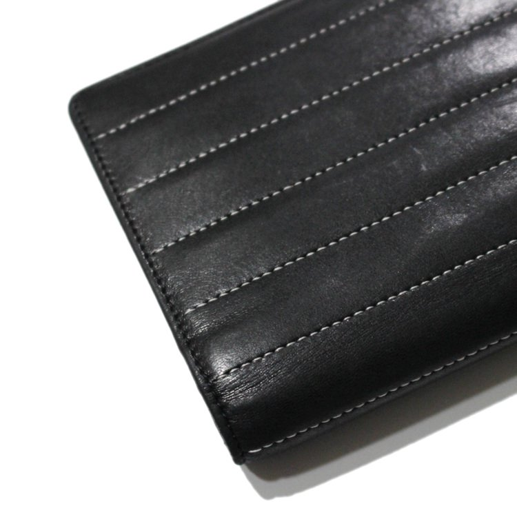 CHANEL シャネル ヴィンテージ<br>マドモアゼルラムスキン二つ折り長財布