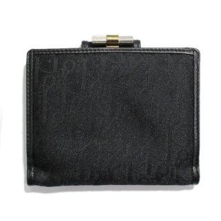 Dior ディオール ヴィンテージ<br>ロゴ総柄がま口二つ折り財布