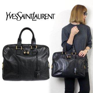 YSL イヴサンローラン ヴィンテージ<br>ミューズスクエアハンドバッグ