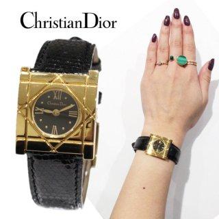 Dior ディオール ヴィンテージ<br>クールカレQZ腕時計