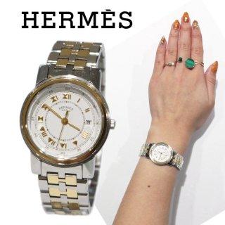 HERMES エルメス ヴィンテージ<br>キャリック コンビQZ腕時計