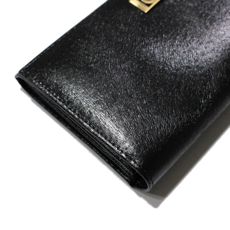 FENDI フェンディ ヴィンテージ<br>ロゴ×型押しレザー長財布