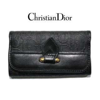 Dior ディオール ヴィンテージ<br>ロゴPVC×レザー6連キーケース