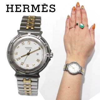 HERMES エルメス ヴィンテージ<br>キャプテンニモ コンビQZ腕時計