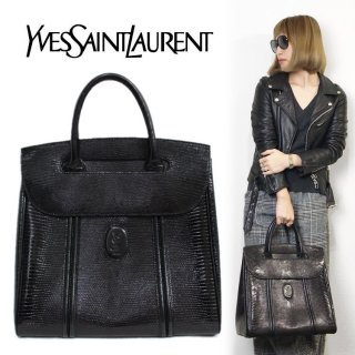 <img class='new_mark_img1' src='https://img.shop-pro.jp/img/new/icons14.gif' style='border:none;display:inline;margin:0px;padding:0px;width:auto;' />YSL イヴサンローラン ヴィンテージ<br>ロゴ型押しケリーハンドバッグ
