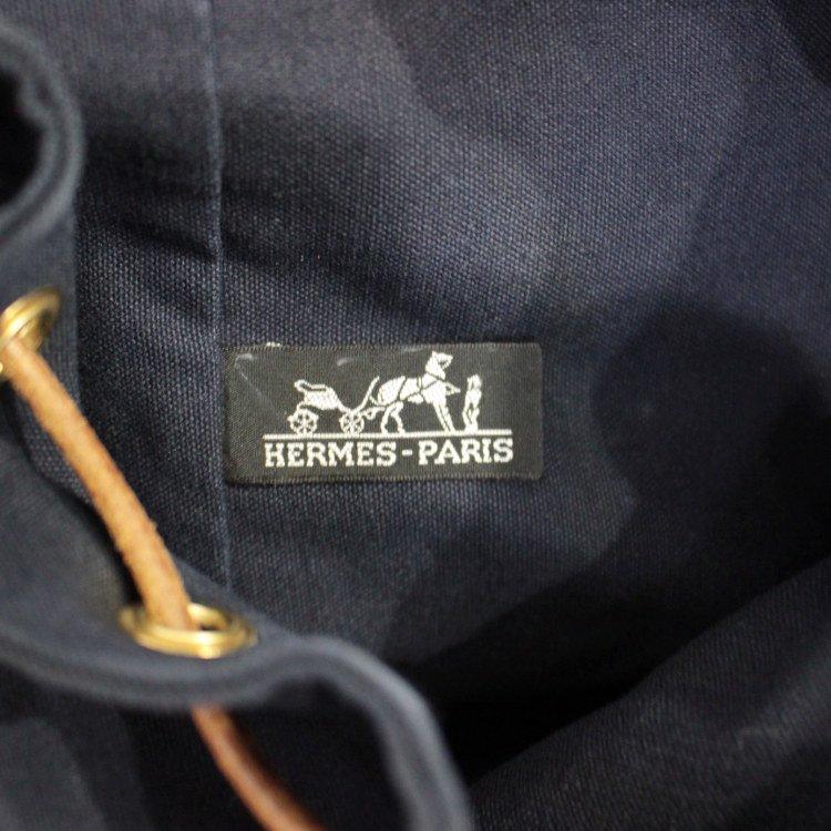 HERMES エルメス ヴィンテージ<br>ポロションミミル ショルダーバッグ ネイビー