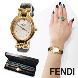 FENDI フェンディ ヴィンテージ<br>カメレオンチェンジベルトQZ腕時計 640L(ベルト4本)