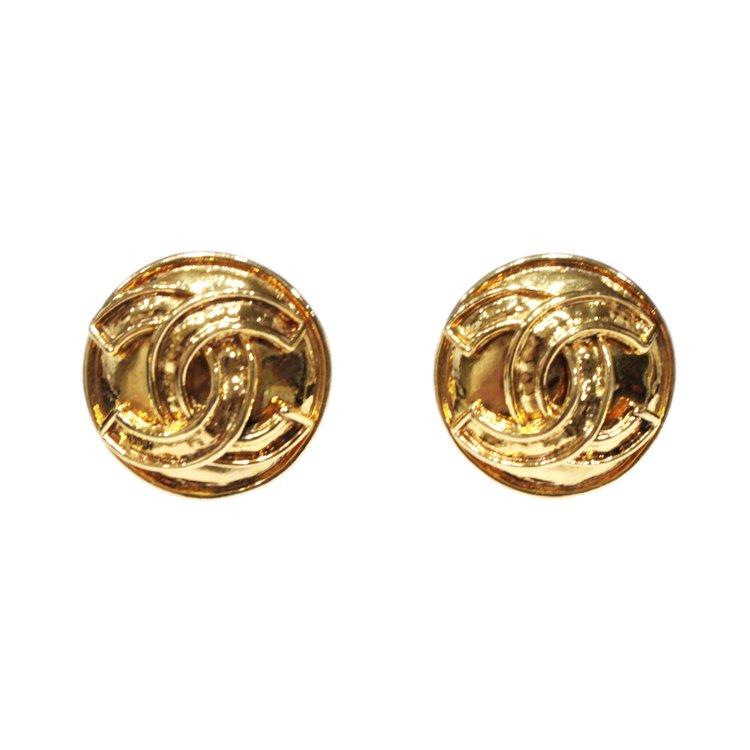 CHANEL シャネル ヴィンテージ<br>90'sココマークゴールドラウンドイヤリング