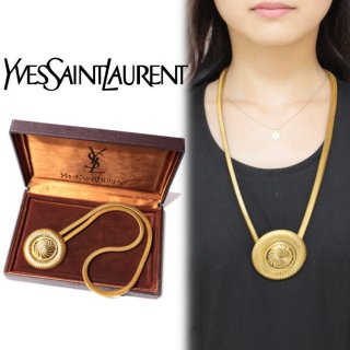 YSL イヴサンローラン ヴィンテージ<br>サークルモチーフネックレス