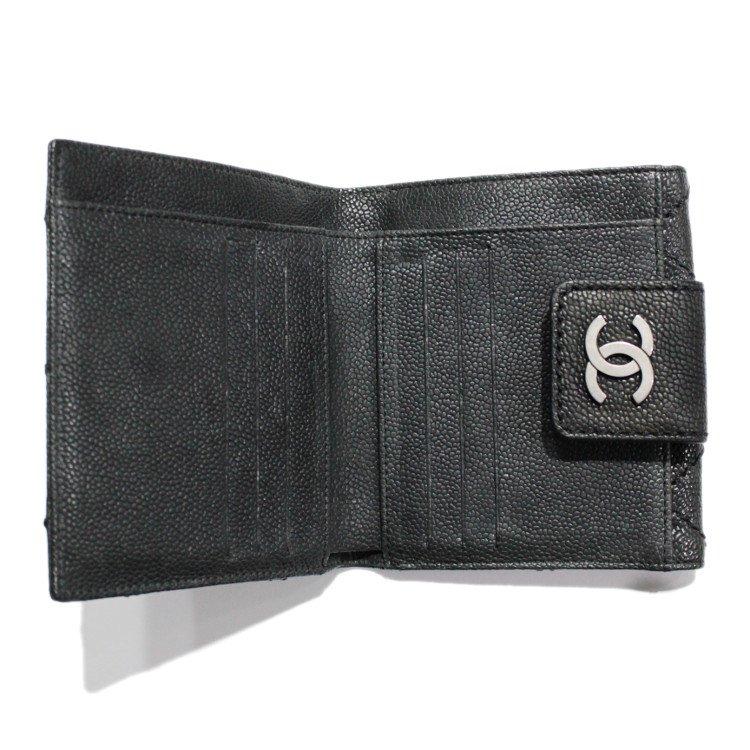CHANEL シャネル ヴィンテージ<br>ココマーク×ワイルドステッチWホック二つ折り財布