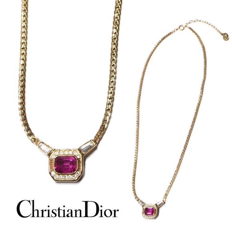 Dior ディオール ヴィンテージ<br>カラーストーンネックレス