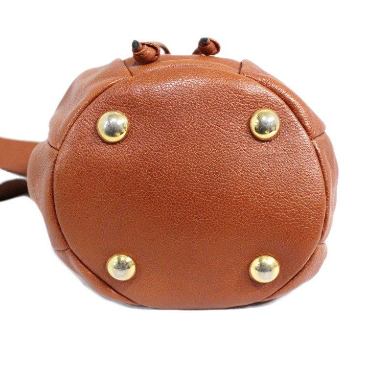 YSL イヴサンローラン ヴィンテージ<br>巾着ロゴワンショルダーバッグ