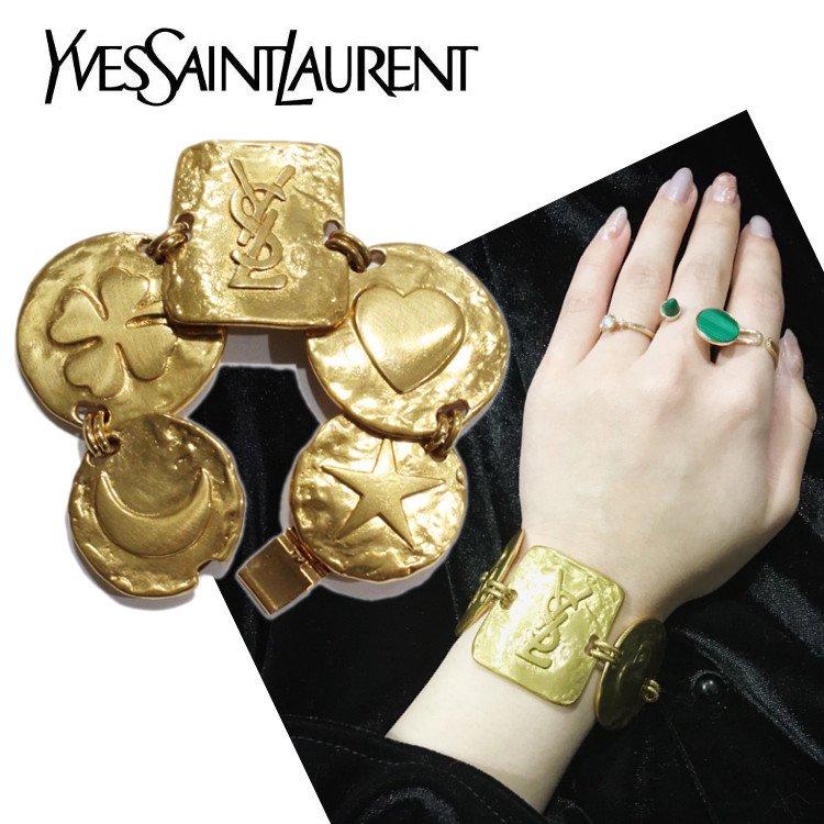 YSL イヴサンローラン ヴィンテージ<br>ロゴモチーフブレスレット
