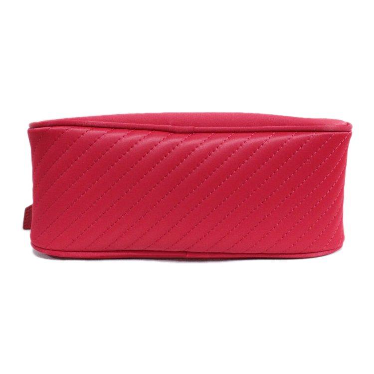 YSL イヴサンローラン ヴィンテージ<br>ロゴ×ナイロンハンドバッグ