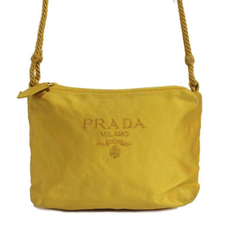 PRADA プラダ ヴィンテージ<br>ロゴナイロンポーチショルダーバッグ