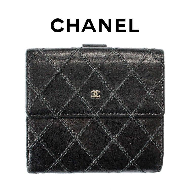 CHANEL シャネル ヴィンテージ<br>ココマークビコローレ二つ折り財布