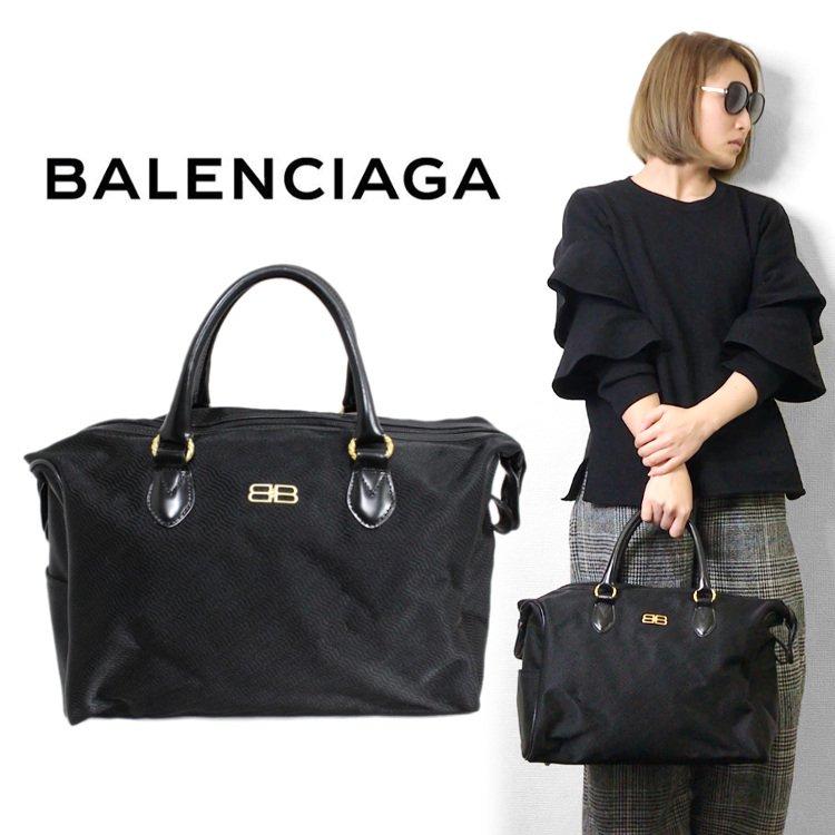 BALENCIAGA バレンシアガ ヴィンテージ<br>BBナイロンボストンバッグ
