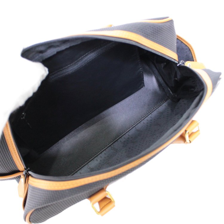 YSL イヴサンローラン ヴィンテージ<br>バイカラーロゴプレートボストンバッグ