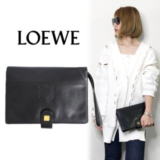 <img class='new_mark_img1' src='https://img.shop-pro.jp/img/new/icons14.gif' style='border:none;display:inline;margin:0px;padding:0px;width:auto;' />LOEWE ロエベ ヴィンテージ<br>ロゴレザークラッチバッグ