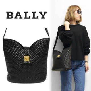 BALLY バリー ヴィンテージ<br>キルティングレザーショルダーバッグ