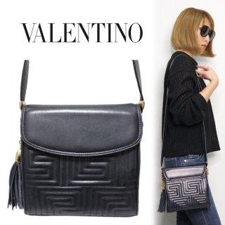 VALENTINO ヴァレンティノ ヴィンテージ<br>オルランディ ショルダーバッグ ネイビー