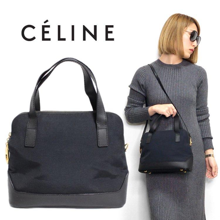 CELINE セリーヌ ヴィンテージ<br>ボリード型2WAYハンド/ショルダーバッグ