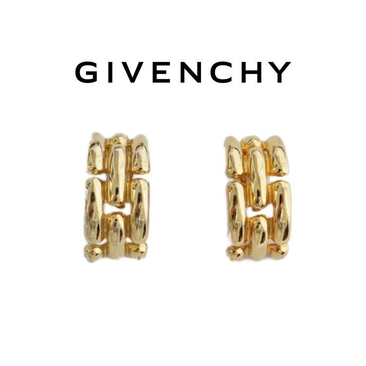 GIVENCHY ジバンシー ヴィンテージ<br>チェーンデザインイヤリング
