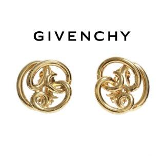 GIVENCHY ジバンシー ヴィンテージ<br>ゴールドデザインヤリング