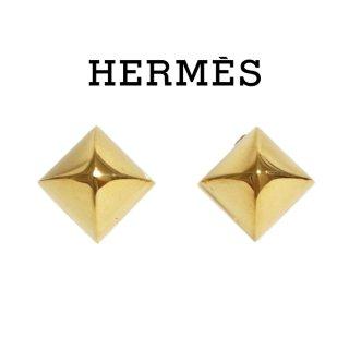 HERMES エルメス ヴィンテージ<br>メドールスタッズイヤリング